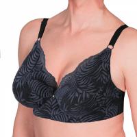 Transwonder bra with lace slate